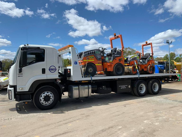 Machinery Towing on Tilt Tray Perth